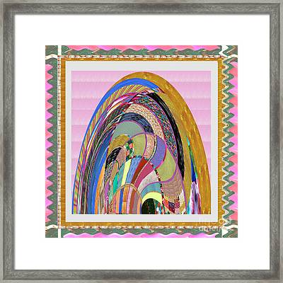 Bride In Layers Of Veils Accidental Discovery From Graphic Abstracts Made From Crystal Healing Stone Framed Print by Navin Joshi