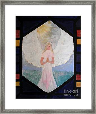 Angel In Prayer  Framed Print