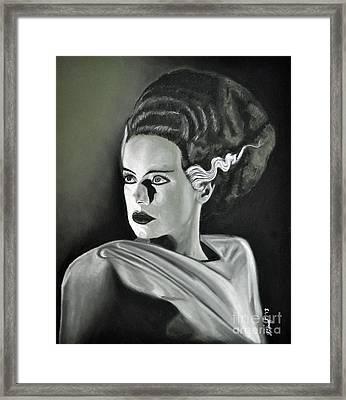 Bride Of Frankenstein Framed Print by Joe Dragt