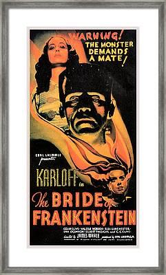 Bride Of Frankenstein Framed Print by Studio Release