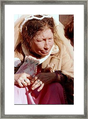 Framed Print featuring the photograph Bride Of Ruthie The Duck Lady  by Michael Hoard