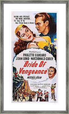 Bride Of Vengeance, Us Poster, Top Framed Print