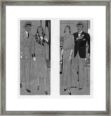 Brides And Grooms Framed Print