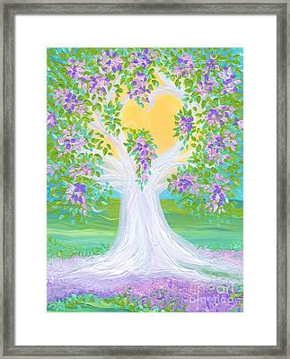 Bride's Tree Purple Framed Print by First Star Art