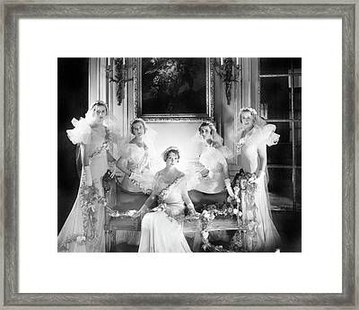 Bridesmaids For The Wedding Of Sir Hugh Houston Framed Print