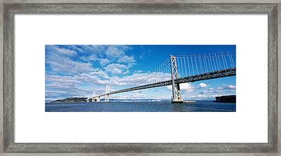 Bridge Across A Bay, Bay Bridge, San Framed Print by Panoramic Images