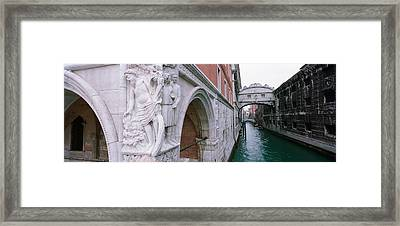 Bridge Across A Canal, Bridge Of Sighs Framed Print by Panoramic Images