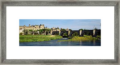 Bridge Across A River, Aude River Framed Print by Panoramic Images