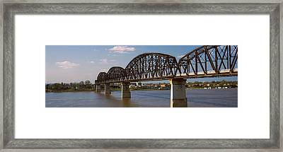 Bridge Across A River, Big Four Bridge Framed Print