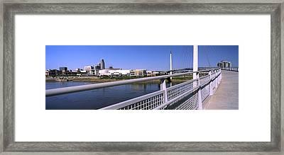 Bridge Across A River, Bob Kerrey Framed Print