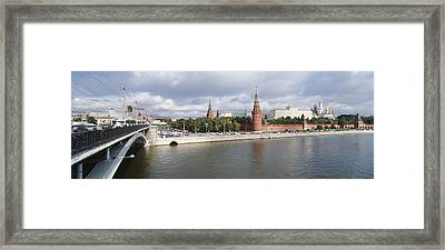 Bridge Across A River, Bolshoy Kamenny Framed Print by Panoramic Images