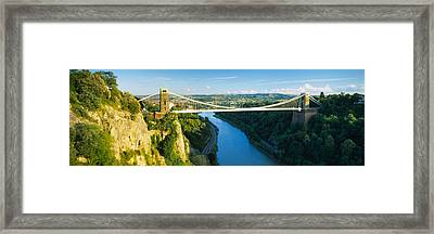 Bridge Across A River, Clifton Framed Print by Panoramic Images