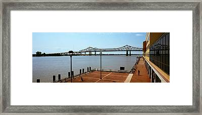 Bridge Across A River, Crescent City Framed Print by Panoramic Images