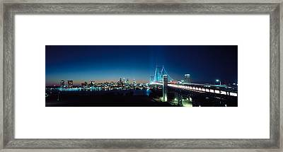 Bridge Across A River, Delaware Framed Print by Panoramic Images