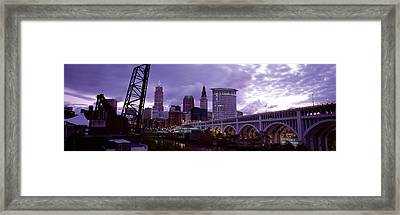 Bridge Across A River, Detroit Avenue Framed Print