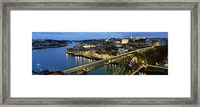 Bridge Across A River, Dom Luis I Framed Print by Panoramic Images