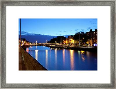 Bridge Across A River, Hapenny Bridge Framed Print