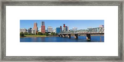 Bridge Across A River, Hawthorne Framed Print
