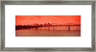 Bridge Across A River, John F. Kennedy Framed Print