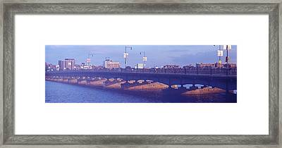 Bridge Across A River, Longfellow Framed Print by Panoramic Images