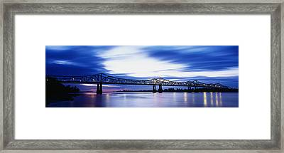 Bridge Across A River, Mississippi Framed Print by Panoramic Images