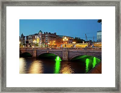 Bridge Across A River, Oconnell Bridge Framed Print