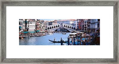 Bridge Across A River, Rialto Bridge Framed Print