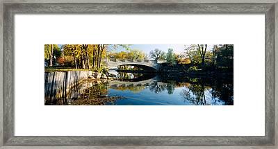 Bridge Across A River, Yahara River Framed Print