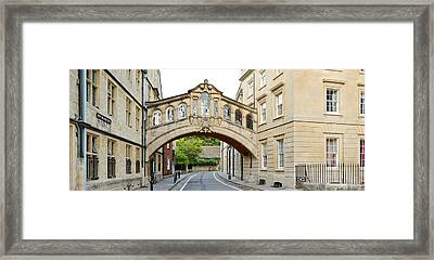 Bridge Across A Road, Bridge Of Sighs Framed Print by Panoramic Images