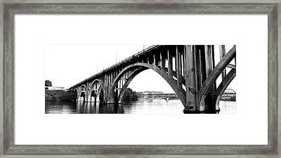 Bridge Across River, Henley Street Framed Print