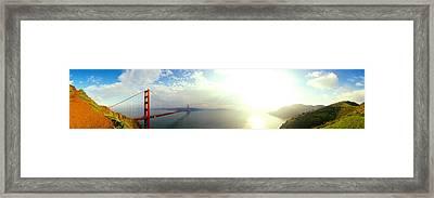 Bridge Across The Bay, Golden Gate Framed Print