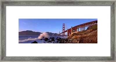 Bridge Across The Bay, San Francisco Framed Print