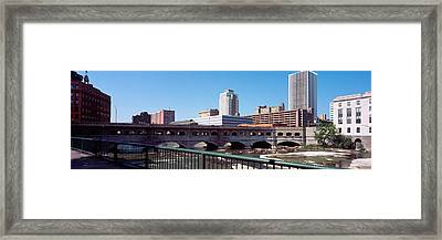 Bridge Across The Genesee River Framed Print by Panoramic Images