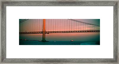 Bridge Across The River Framed Print by Panoramic Images