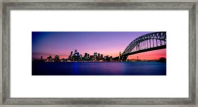 Bridge Across The Sea, Sydney Opera Framed Print by Panoramic Images