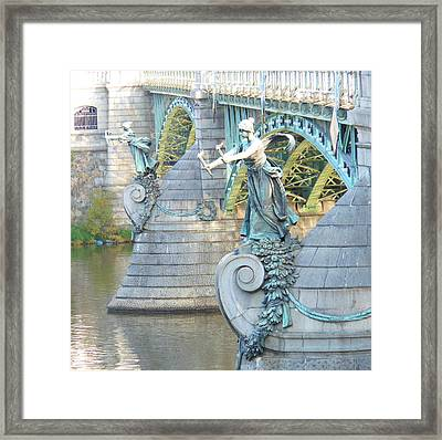 Framed Print featuring the photograph Bridge Adornment In Prague by Kay Gilley