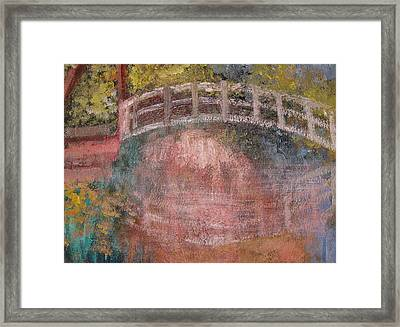 Framed Print featuring the mixed media Bridge After Monet by Diana Riukas