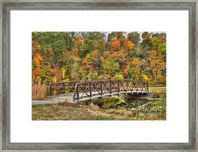 Bridge Amongst Autumn Colors Framed Print