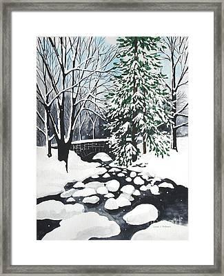 Bridge And Creek - Mill Creek Park Framed Print