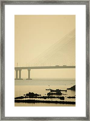 Bridge And Rocks Framed Print