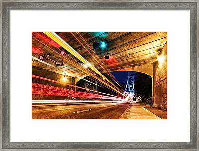 Bridge And Tunnel Framed Print by Alexis Birkill