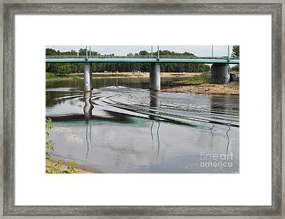 Bridge And Waves Framed Print
