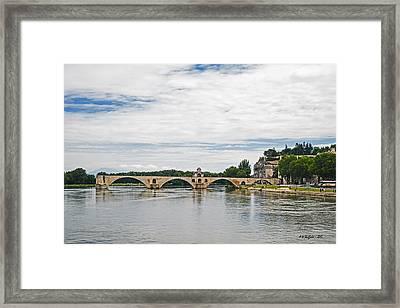 Bridge At Avignon Framed Print