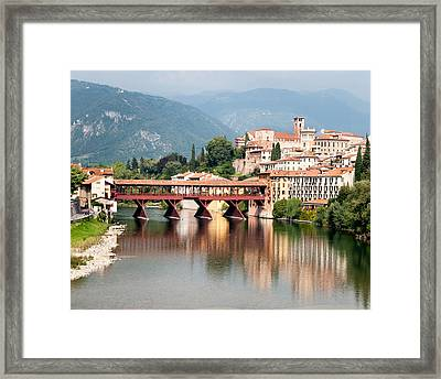 Bridge At Bassano Del Grappa Framed Print