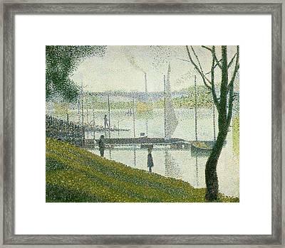 Bridge At Courbevoie Framed Print