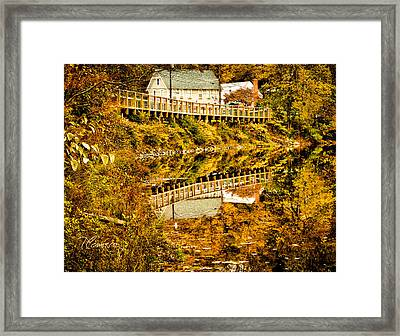 Framed Print featuring the photograph Bridge At C'ville by Tom Cameron