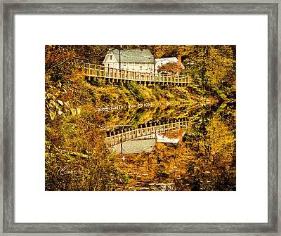 Bridge At C'ville Framed Print by Tom Cameron