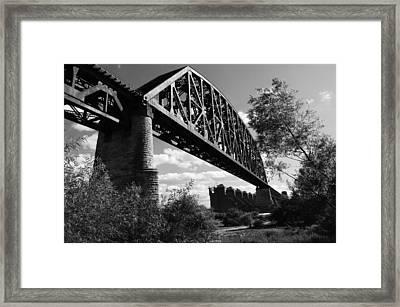 Bridge At Falls Of The Ohio Framed Print by Chris Fender