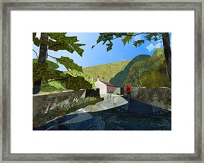 Bridge At Froggatt Framed Print by Kenneth North
