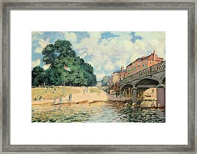 Bridge At Hampton Court Framed Print